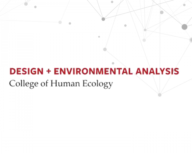 Design and Environmental analysis college of human ecology logo