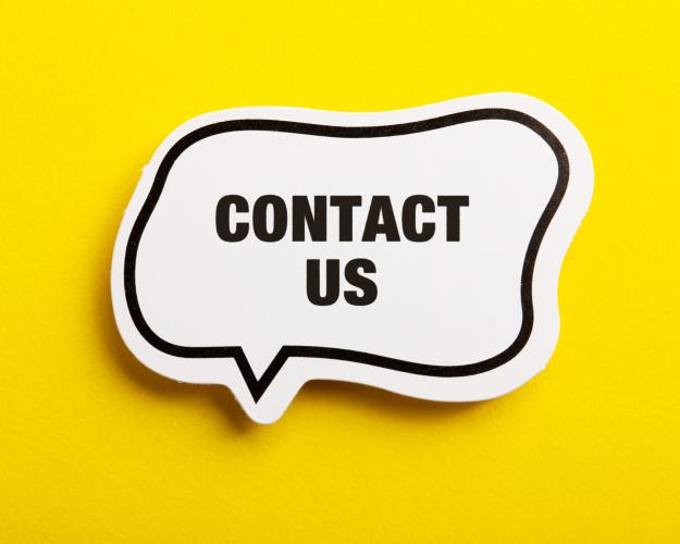 Contact Us word bubble